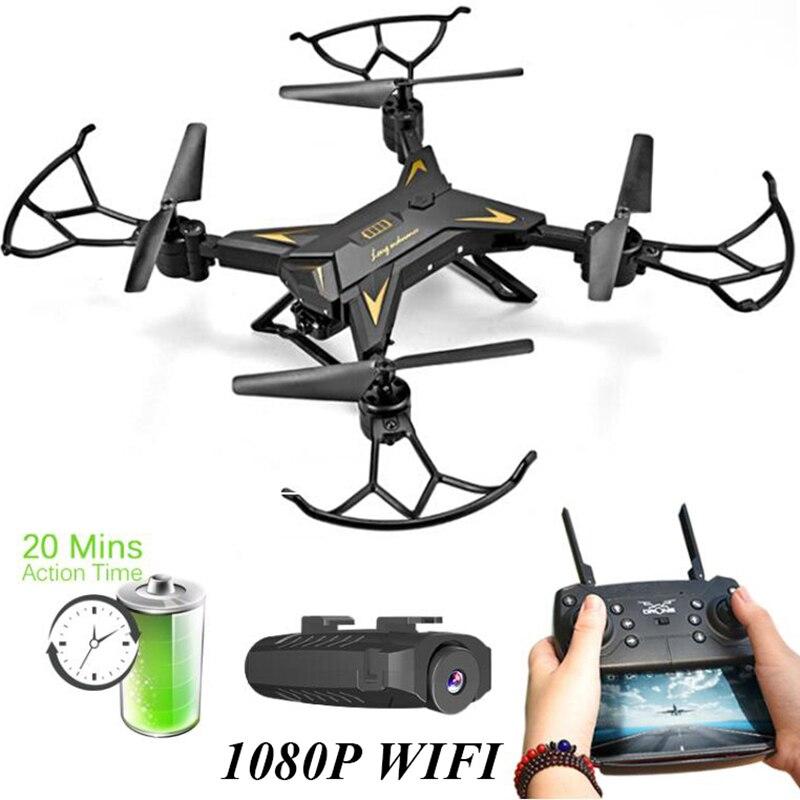 Drone hélicoptère KY601S RC avec caméra HD 1080 P WIFI Selfie Dron quadricoptère de batterie pliable quadrirotor professionnel
