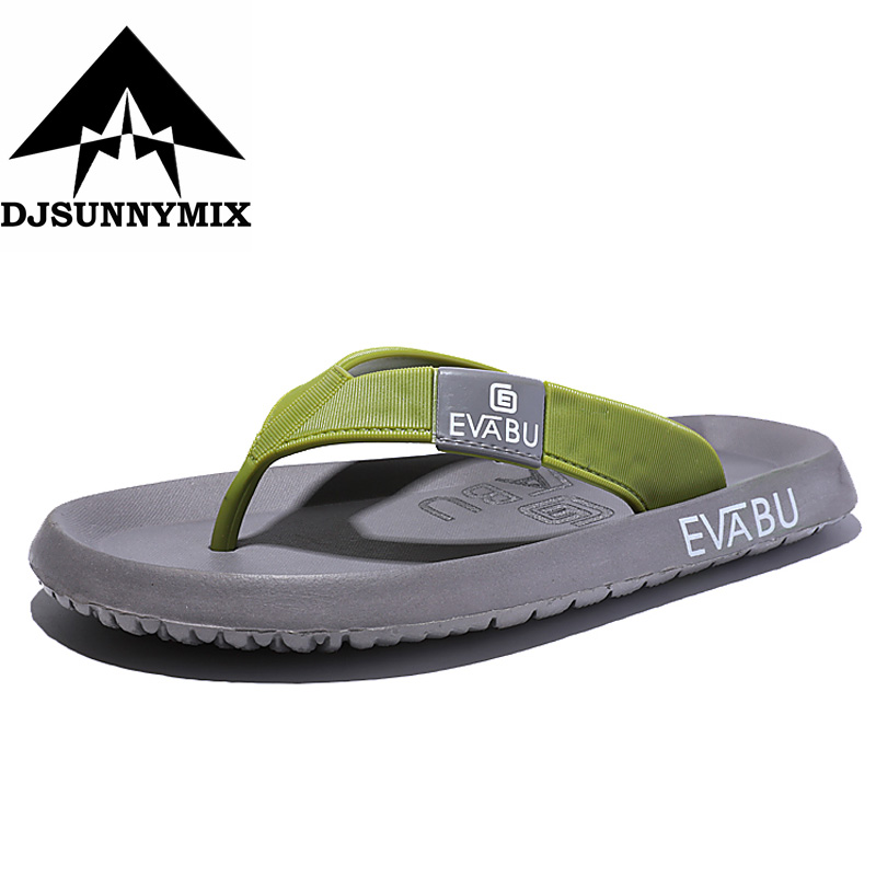 DJSUNNYMIX  Brand 2018 New Men's Flip Flops breathable Slippers Summer Fashion Beach Sandals Shoes For Men Big Size 45 sandals men fashion new brand buckle mens flip flop sandals casual slippers brown summer beach sandals men shoes breathable
