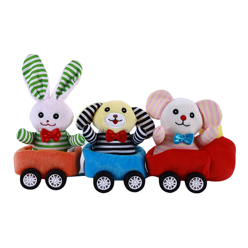 Baby Cotton Blends Train Toys Cartoon Animal Colorful Train Car Toys For Baby Early Development Popular Toy
