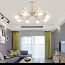 Nordic modern 180 degree steering chandelier E27 LED wrought iron for kitchen living room bedroom restaurant hotel
