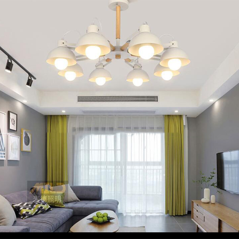 Nordic moderno 180 gradi sterzo lampadario E27 LED lampadario in ferro battuto per la cucina soggiorno camera da letto ristorante hotelNordic moderno 180 gradi sterzo lampadario E27 LED lampadario in ferro battuto per la cucina soggiorno camera da letto ristorante hotel