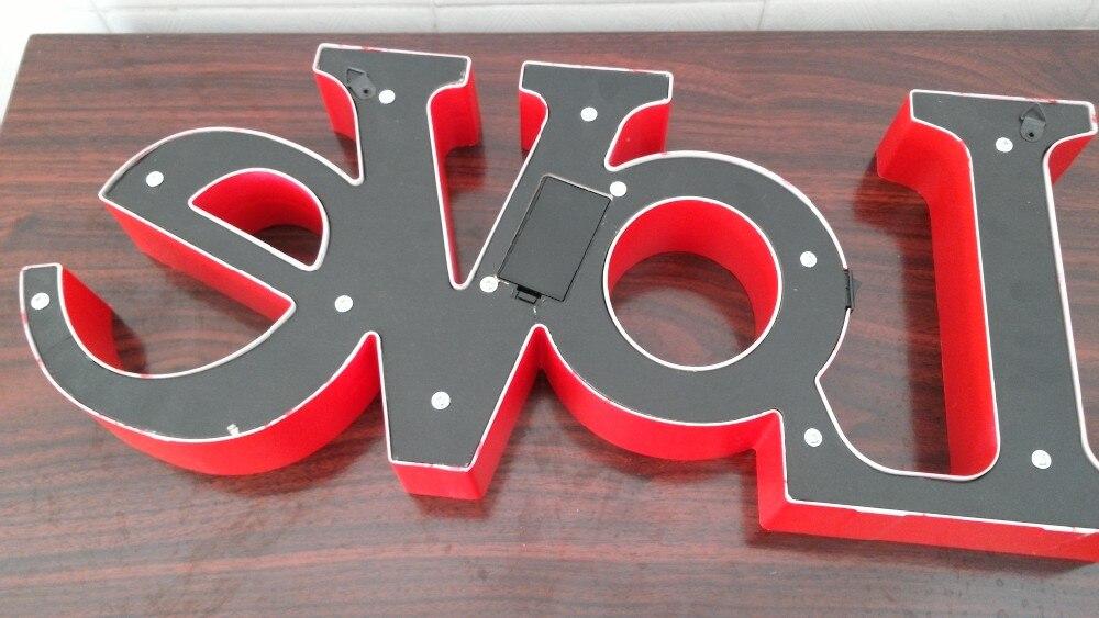 Letreiro letras Do Vintage letras sinal para adereços de casamento