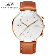 2017 New Simple Watch Top Brand Carnival Men Watches Quartz Watch Ultrathin Watch HD Luminous Waterproof Watches full steel