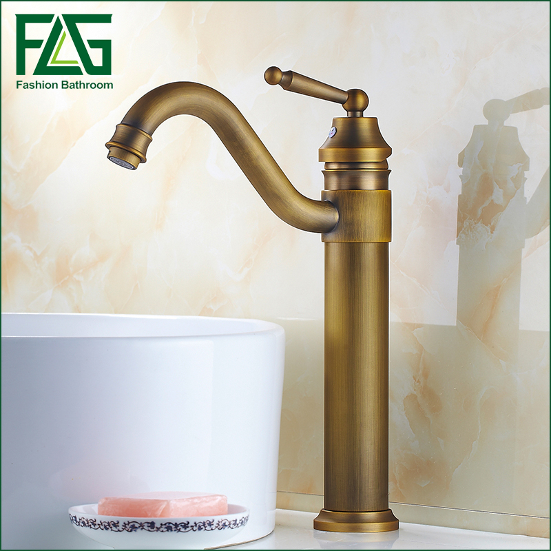 Free Shipping Antique Brass Faucet Bathroom Faucet Single Handle Basin Copper Classic Tap Sink Mixer free ship classic bathroom faucet matte black brass basin sink faucet cold hot tap single handle taps mixer