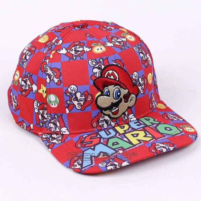 2e42caea5d4 placeholder Super Mario Bros 2017 Fashion Baseball Cap Mario Embroidery  Cartoon Boys Men Sun Hats Flat Snapback