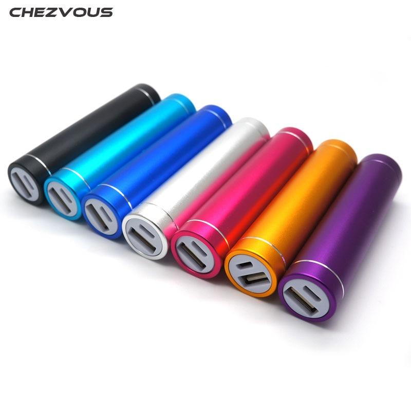 CHEZVOUS Multicolor Metal Power Bank DIY Kit font b Storage b font Case Box Free welding