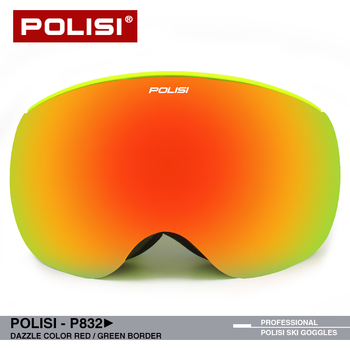 POLISI Esquí snowboard gafas para moto de nieve hombres mujeres invierno nieve gafas doble lente gran visión polarizada Anti-niebla UV400 P832