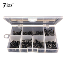 80pcs/box Multiple Sizes Fishing Rod Guide Tip Top Ring Stainless Steel Guides Eye Fishing Rod Repair Parts DIY Kit Dropshipping new 80pcs fishing rod guide guides tip set repair kit diy eye rings different size stainless steel frames with plastic fish box