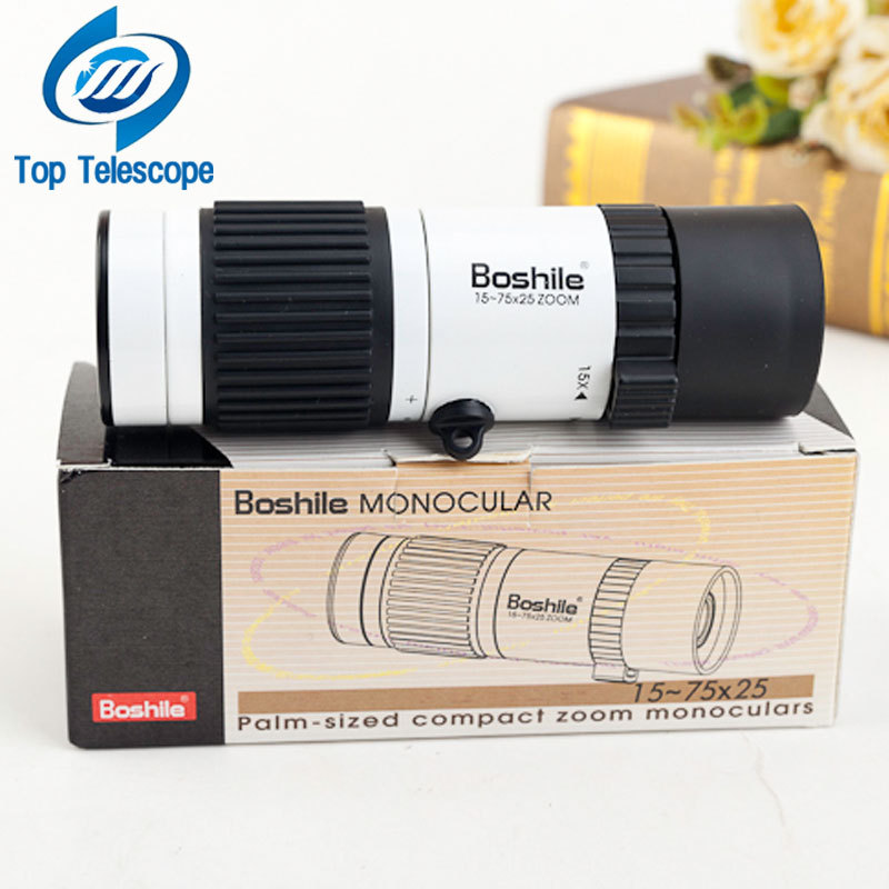 Monocular Boshile 15-75x25 zoom telescope binoculars high quality night vision Pocket travel hunting football with free tripod original boshile high power 15 75x25 mini zoom monocular pocket flexible focus zoom telescope for camping dy007