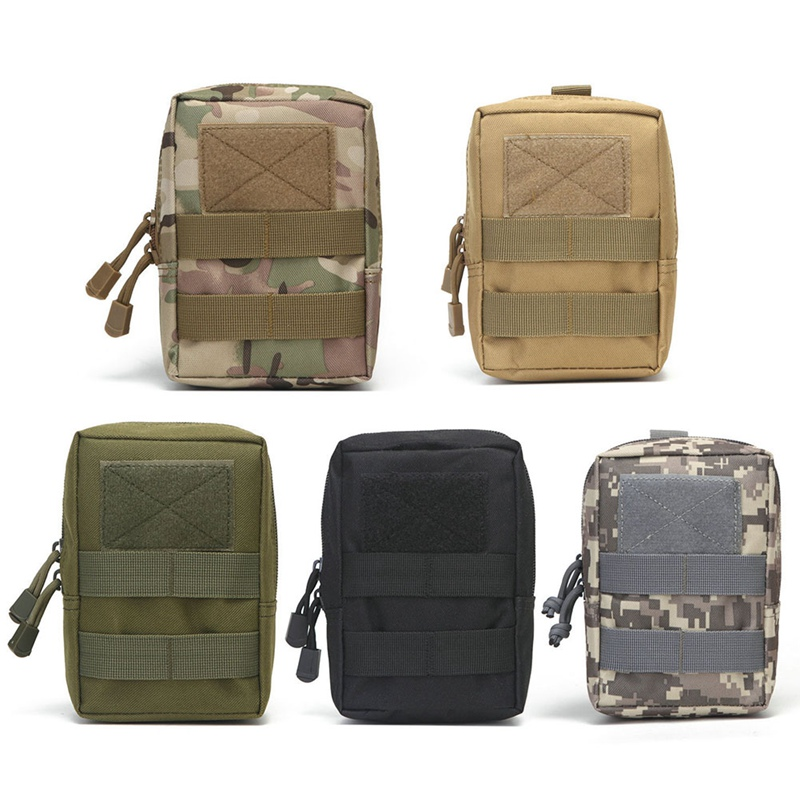 Mens Military Tactical Waist Pack Molle Pouch Hunting Durable Belt Pouch Outdoor