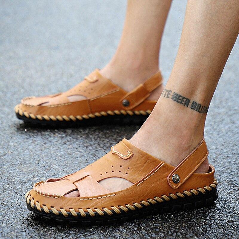 100% Wahr Outdoor Männer Sandalen Sommer Männer Schuhe Strand Schuhe Männer Wandern Sandalen Slip-auf Männliche Schuhe Erwachsene Männer Casual Schuhe Plus Größe 48 Gesundheit Effektiv StäRken