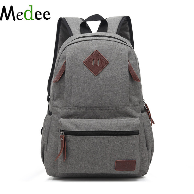 Medee School Bags For Teenagers Canvas Backpack Fashion Laptop Travel Backpack Bookbags Men And Women Sac a Dos Femme Eastpack cool urban backpack for teenagers kids boys girls school bags men women fashion travel bag laptop backpack