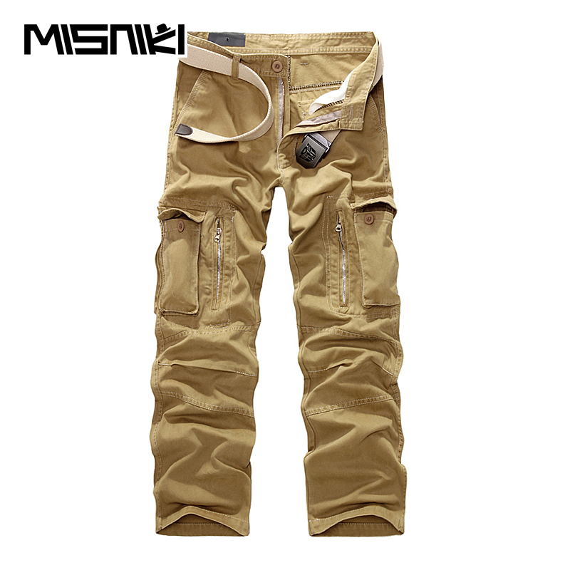 MISNIKI Brand 2018 New Military Cargo Pants Men Camouflage Tactical Casual Cotton Casual Trousers Men Pantalon Hombre