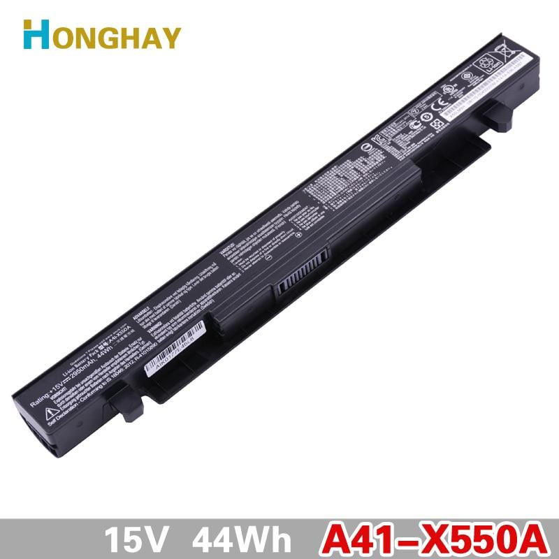 Original Battery A41-X550A Laptop Battery For ASUS A41-X550 X450 X550 X550C X550B X550V X550D X450C X550CA A450 A550 15V 2950mAh for asus x550 x550v x550c c a550 x450 y581c palmrest c shell