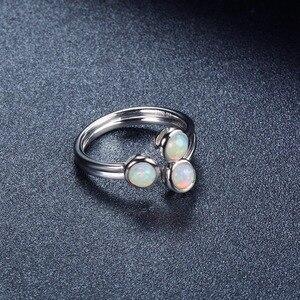 Image 5 - خاتم نسائي من العقيق الطبيعي من هانغ ، خواتم خطوبة مفتوحة من الفضة الإسترليني 925 ، مجوهرات فاخرة من الأحجار الكريمة 3 أحجار بتصميم كلاسيكي