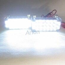 2X22 светодиодный белый мигающий стробоскопический светильник 2*22 светодиодный светильник 3 режима мигания 22 светодиодный сигнальный фонарь