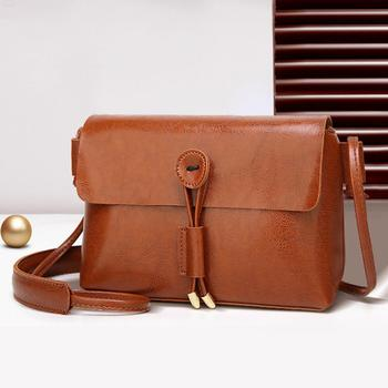 Women Solid shoulder bag Fashion Leather women crossbody bag Flap Shoulder Messenger Crossbody Bags sac main femme bolso mujer