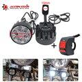 Alconstar- 2 шт. Светодиодная лампа для мотоцикла  мотоцикла  точечная лампа  боковое зеркало  крепление для Honda  для Yamaha KTM Racing