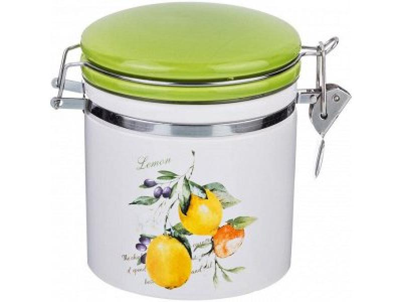 Банка для сыпучих продуктов Lefard, Итальянские лимоны, 250 мл банка для чая 0 5 л итальянские лимоны lcs