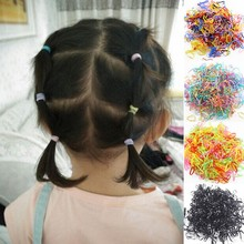 200pcs Small Rubber Children Hair Bands Colorful Assorted Band Gigh Elastic Hair One-time Band Wholesale Children Hair Accessory