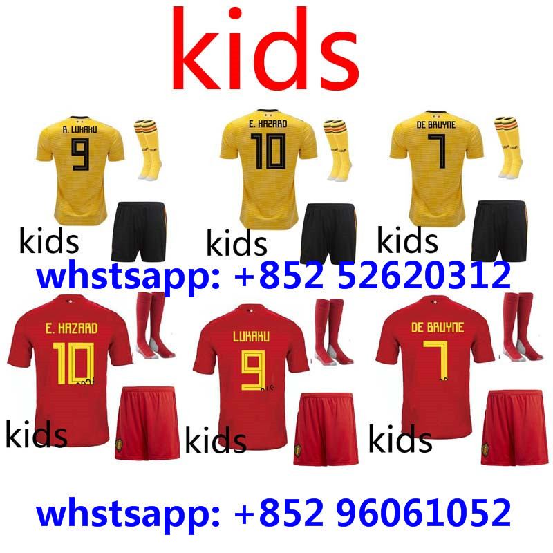 2018 2019 Belgium kids home away shirt 18 19 camisetas shirt survetement World  Cup child shirt 7758a3ff7