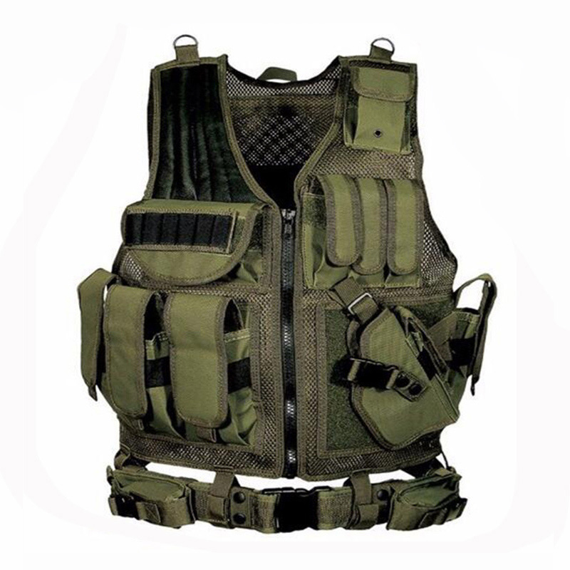 Image 2 - 2019 Army Tactical Equipment Military Molle Vest Hunting Armor Vest Airsoft Gear Paintball Combat Protective Vest For CS Wargame-in Hunting Vests from Sports & Entertainment