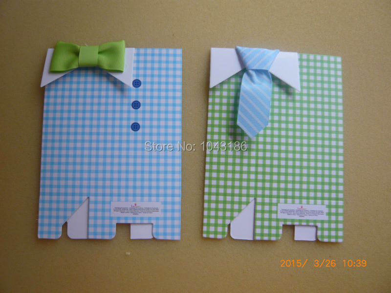 My Little Man Blue Green Bow Tie Birthday Boy Baby Shower Favor Candy Treat Bag Wedding Favors Candy Box Gift Bags 100pcs/lot