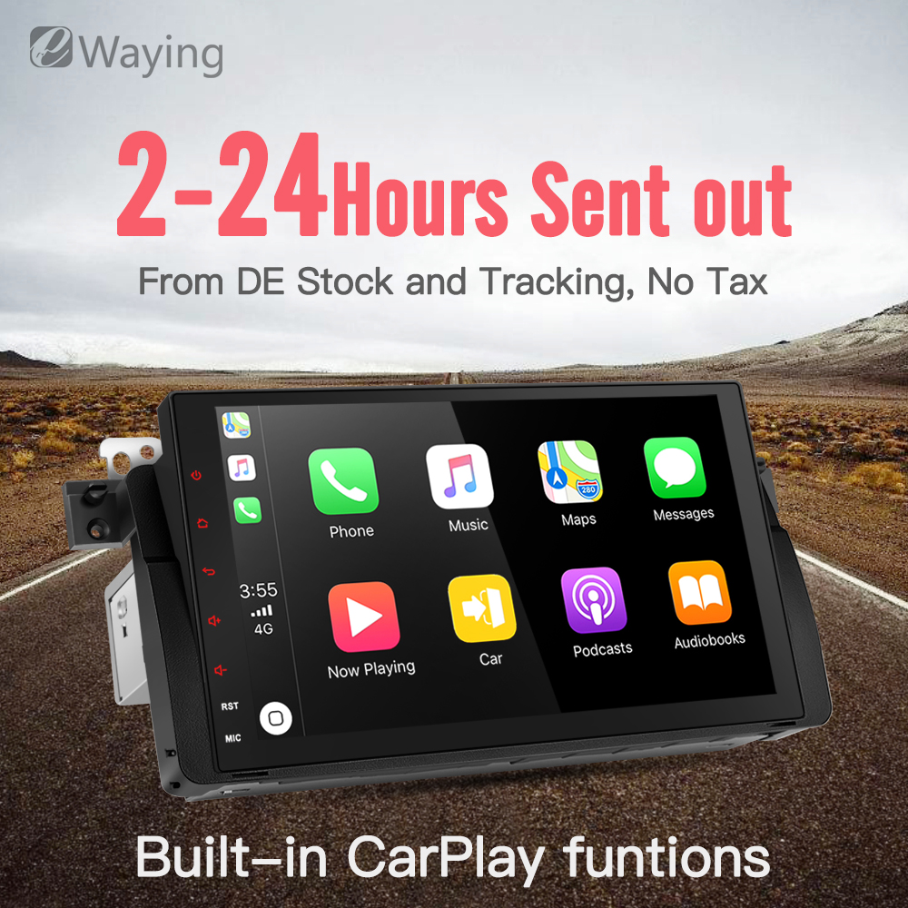 Ewaying Octa-Core Android 8.1 2G+32G 2.5D IPS screen Built-in Carplay For BMW/E46/M3/MG/ZT Support GPS Navigation Radio octa core android 8 1 2g ram 32g rom 2 5d ips screen for bmw e39 e53 support carplay gps navigation 4g fm radio