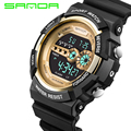 SANDA Luxury Brand Mens Sports Watches Dive 50m Digital LED Military Watch Men Fashion Casual Electronics Wristwatches Hot Clock
