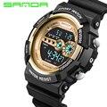 SANDA Marca De Lujo Para Hombre Relojes Deportivos de Buceo 50 m Electrónica Digital LED Reloj Militar Hombres Moda Casual Reloj de Pulsera Caliente