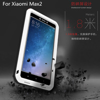 Original Love Mei Shockproof Case For Xiaomi Mi Max 2 Aluminum Metal Gorilla Glass Heavy Duty