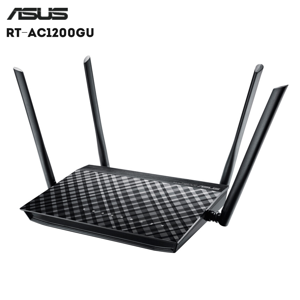 Ordinateur portable d'origine ASUS RT-AC1200GU AC1200M Intelligent WiFi Routeur Domestique 2.4 GHz + WiFi 5 GHz 4 x 5dBi Antenne Externe À Gain Élevé 802.11ac