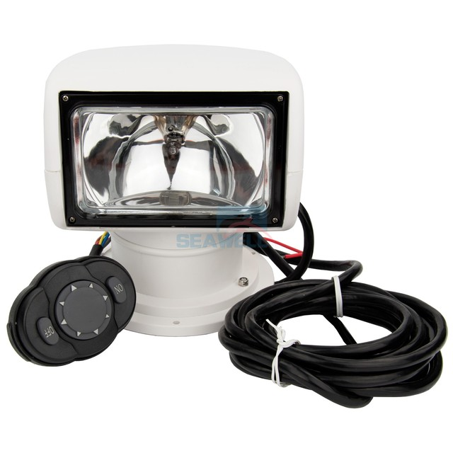 remote marine spotlight truck car hid xenon boat searchlight 4 way rotating 12v 35w in headlight. Black Bedroom Furniture Sets. Home Design Ideas