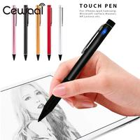 Cewaal Universal High Precision 1.8mm Rechargeable Touch Screen Pen point Stylus pen Aluminium Alloy Tablet For iPhone Ipad