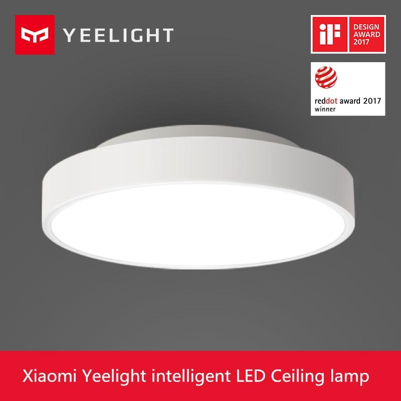 Новинка 2017 года Оригинал Сяо Mi yeelight Smart потолочный светильник удаленного Mi приложение WI-FI Bluetooth Управление smart Светодиодный Цвет IP60 пыле