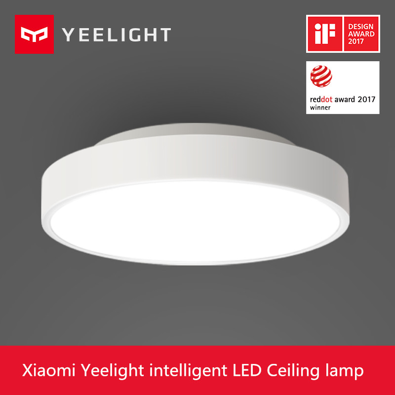2017 New Original Xiaomi Yeelight Smart Ceiling Light Lamp Remote Mi APP WIFI Bluetooth Control Smart LED Color IP60 Dustproof