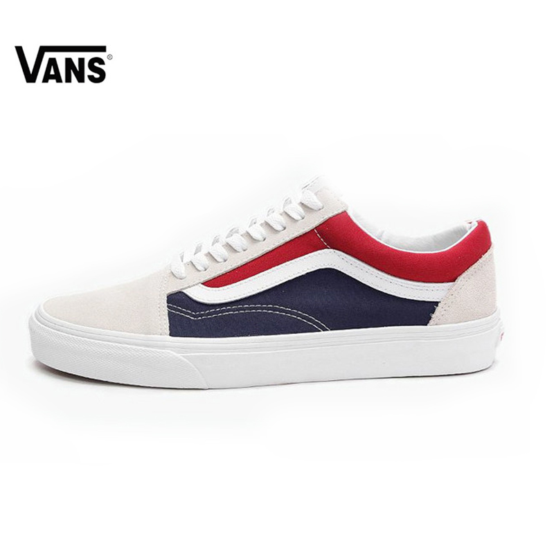 US $44 63 5% OFF VANS OLD SKOOL Original Skateboarding Shoes Red and Blue  Pepsi Color Matching VN0A38G1QKN for Women VN0A38G1QKN 35 45-in