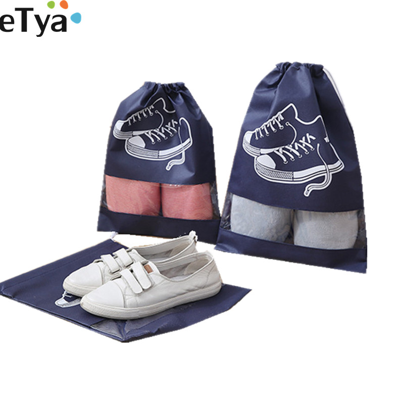 1PCS Non Woven Fabric Shoes Bags For Women Men Travel Shoe Packing Bags Pouch Organizer Dust-proof Tote Drawstring Bag