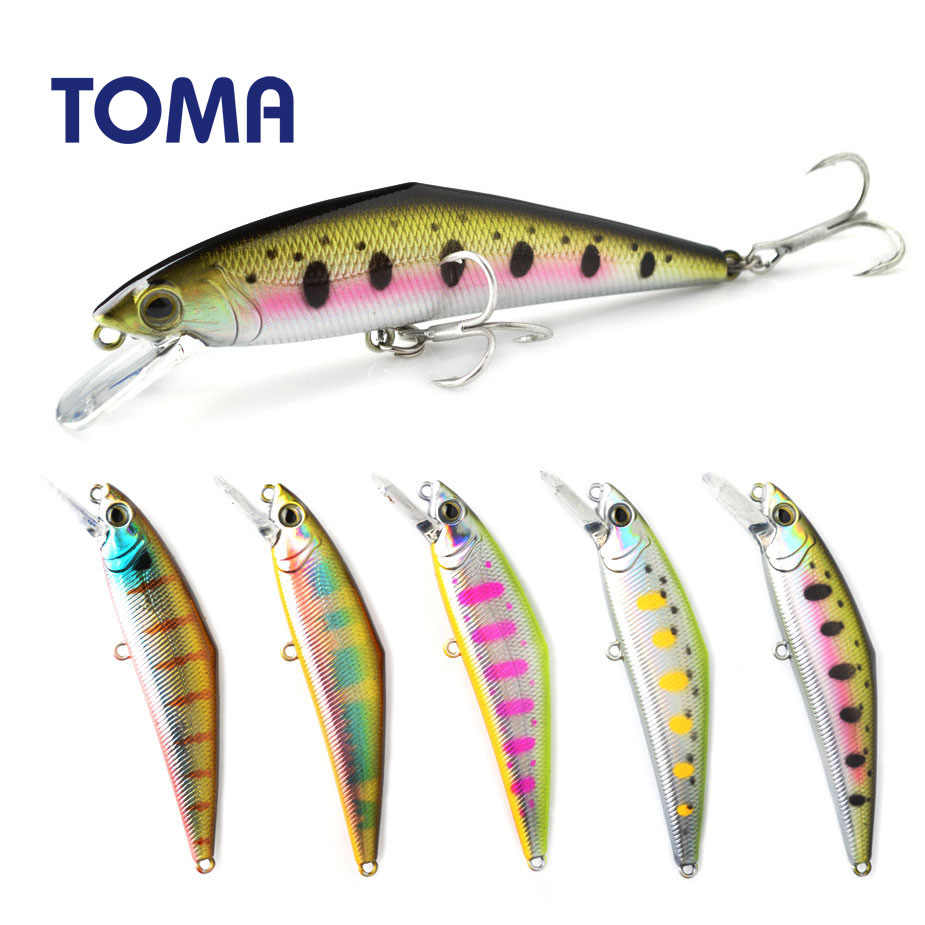 TOMA 85F Minnow Fishing Lure 85mm 15g Floating Hard Baits Iscas Artificial Minnow Wobbler Bass Pike Bait Fishing Tackle