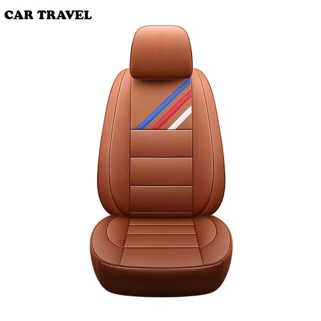 ของแท้หนังที่กำหนดเองรถยนต์สำหรับ BMW E46 E36 E39 E90 X1 X5 X6 E53 F11 E60 F30 x3 E83 รถยนต์ที่นั่งครอบคลุม