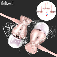 M&J J9 Metal Magnetic Sport Running Earphone In-Ear Earbuds Clarity Stereo Sound With Mic Headset For Mobile Phone MP3 MP4 PC(China)