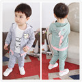 Baby Born Patchwork Promotion New 2016 Children Suits Autumn Outfit The Cotton Han Edition Three-piece Boy Cartoon Dinosaur