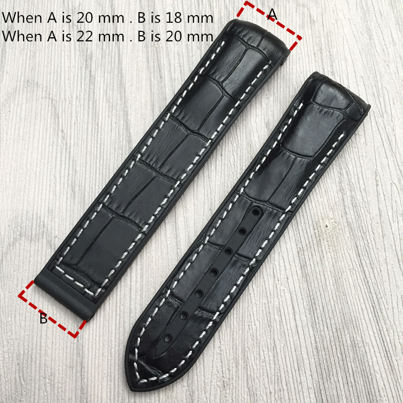 20 22mm Silicone Watches Bands For Omega Seamaster Planet Ocean 600 Watch Strap Brand Leather Bracelet Rubber Sports Replacement