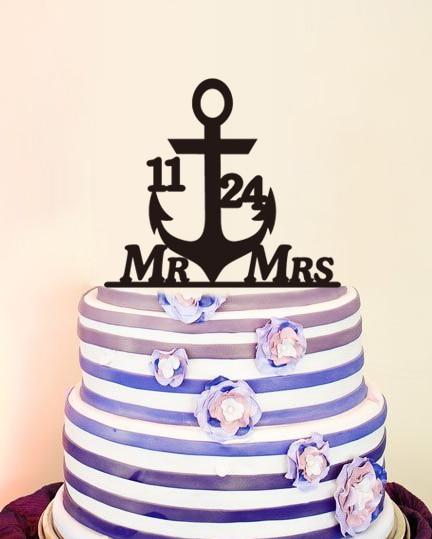 font b Custom b font Mr Mrs Name Wedding Decoration Personalized font b Cake b
