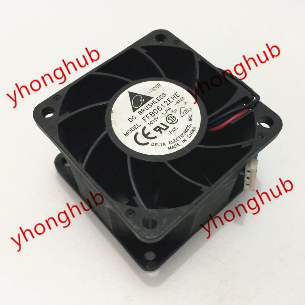 Delta FFB0612EHE NF00 DC 12V 1.20A 60x60x38mm Server Cooler Fan