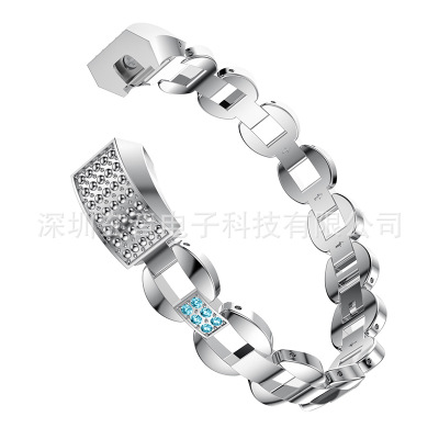 2017 free delivery bucket - type diamond-encrusted steel-belt watch band with water-drilling stainless steel band free delivery 811600 4623