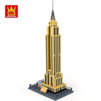 WANGE 5212 Building Blocks World Famous Architecture Series Empire State building of NewYork Landmark Toys for Children bricks