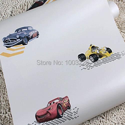 ФОТО beibehang Carton Car Wallpaper for Boy Kids Bedroom Designer Wall Paper VV.papel de parede para sala 3D Mural.papel de