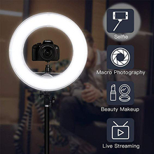 Stand LED Ring Floor Lamp 80LEDs Light Dimmable Selfie Lampadaire USB Lamps Lampara for Makeup Phone Live Year Stream