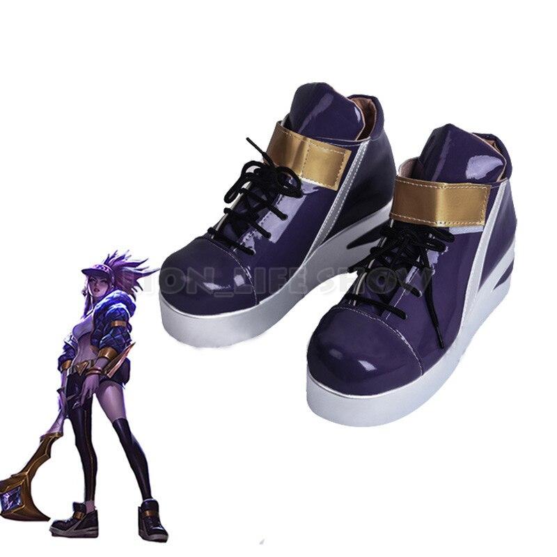 KDA Akali Cosplay Shoes LOL AKALI Cosplay Women Shoes Game LOL K/DA Akali Cos
